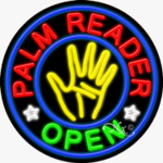Palm Reader Circle Shape Neon Sign