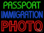 Passport Immigration Photo LED Sign