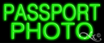 Passport Photo Economic Neon Sign