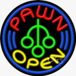 Pawn Circle Shape Neon Sign