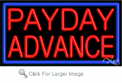 Payday Advance Business Neon Sign