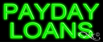 Payday Loans Economic Neon Sign
