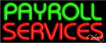 Payroll Services Business Neon Sign