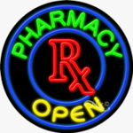 Pharmacy1 Circle Shape Neon Sign