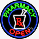 Pharmacy2 Circle Shape Neon Sign