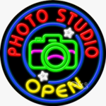 Photo Studio Open Circle Shape Neon Sign