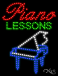 Piano Lessons LED Sign