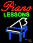 Piano Lessons Business Neon Sign
