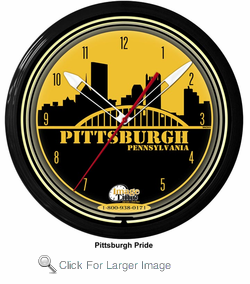 "Pittsburgh 20"" Neon Clock"