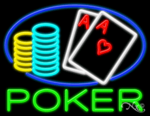 Poker Business Neon Sign
