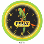 "Polly Gas 20"" Neon Clock"
