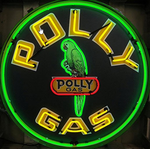 Polly Gasoline Neon Sign in Metal Can