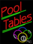Pool Tables LED Sign