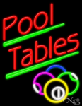 Pool Tables Business Neon Sign