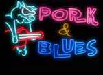 Pork and Blues Neon Sign