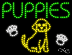 Puppies LED Sign