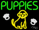 Puppies Business Neon Sign