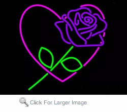 Purple Rose Neon Sign
