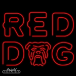 Red Dog Double Stroke Neon Beer Sign