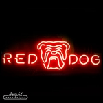 Red Dog Logo Neon Beer Sign