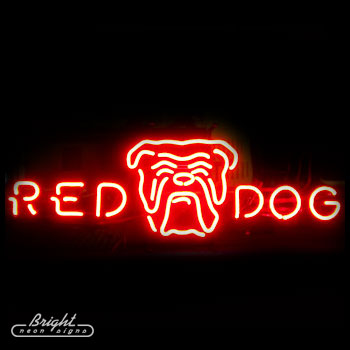 Red Dog Logo Neon Beer Sign Only 29999 Signs R