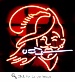 Red Knight Neon Sign