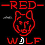 Red Wolf Neon Sign