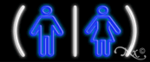 Restrooms Logo Economic Neon Sign