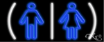 Restrooms Logo Neon Sign