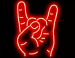 Rock On Color Red Neon Sign