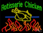 Rotisserie Chicken LED Sign