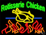 Rotisserie Chicken Business Neon Sign