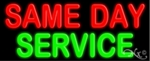 Same Day Service Neon Sign