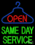 Same Day Service Open LED Sign