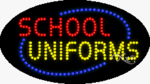 School Uniforms LED Sign
