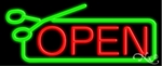 Scissors Open Neon Sign