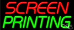 Screen Printing Business Neon Sign