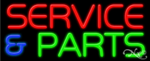 Service & Parts Business Neon Sign
