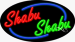 Shabu Shabu Oval Neon Sign