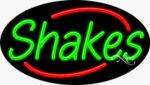 Shakes Oval Neon Sign
