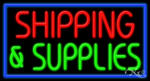 Shipping & Supplies Business Neon Sign