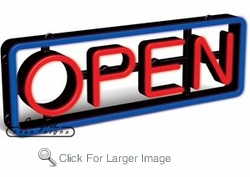 Simulated Neon Open Sign
