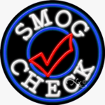 Smog Check Circle Shape Neon Sign