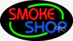 Smoke Shop Oval Neon Sign