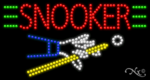 Snooker LED Sign