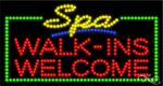 Spa Walk ins Welcome LED Sign