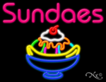 Sundaes Business Neon Sign