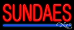 Sundaes Economic Neon Sign