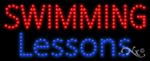 Swimming Lessons LED Sign