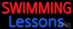 Swimming Lessons Business Neon Sign